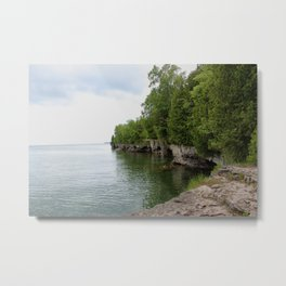 Cave Point County Park Metal Print
