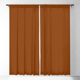 solid cognac // terracotta // reddish brown Blackout Curtain