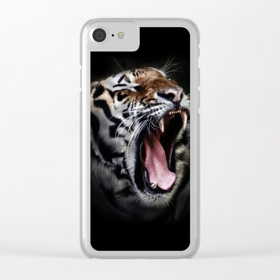 Ferocious Tiger Clear iPhone Case