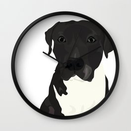 Atticus the Pit Bull Wall Clock