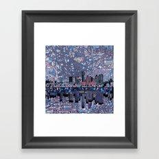 austin texas city skyline Framed Art Print