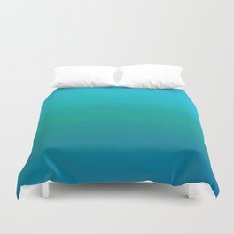Ombre, Blue to Teal Duvet Cover