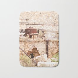 253. Abandoned Factory, Greece Bath Mat