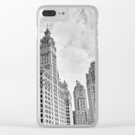Chicago Iconic Wrigley Building Clear iPhone Case