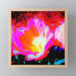 Radioactive Tulip Framed Mini Art Print