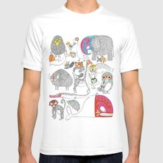Animales Luchadores Mens Fitted Tee White MEDIUM