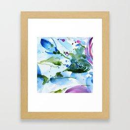 Bli-bla-blue Framed Art Print