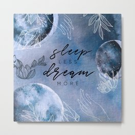 Mysterious Luna #4: Sleep less, dream more Metal Print