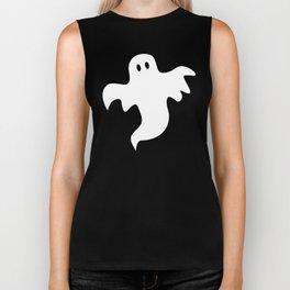 Spooky White Halloween Ghost Biker Tank