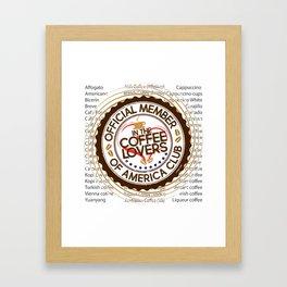 Coffee Lovers of America Club by Jeronimo Rubio 2016 Framed Art Print