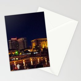 Waterplace Park Waterfire Lighting Nightscape- Providence, Rhode Island Stationery Cards