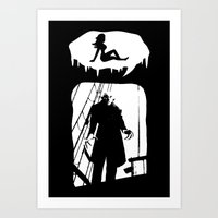 randy c Art Prints featuring Randy Vampire by Because Skulls