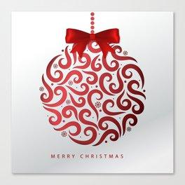 Decorative Christmas Ornament Pattern Canvas Print