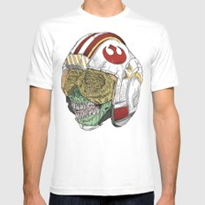 Zombie Alliance White Mens Fitted Tee MEDIUM
