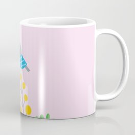 Little Bird on Mimosa Coffee Mug
