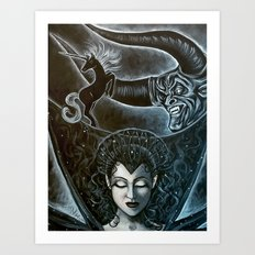 Consumed by Darkness Art Print