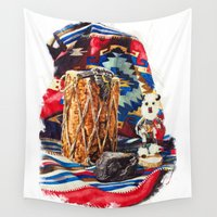 navajo Wall Tapestries featuring Navajo Still Life 2 by Fallen Apple Designs