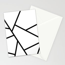 Black and White Fragments - Geometric Design I Stationery Cards