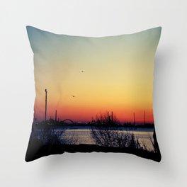 Venice Sunset Throw Pillow