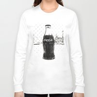 coke Long Sleeve T-shirts featuring Frosty Coke by Vorona Photography