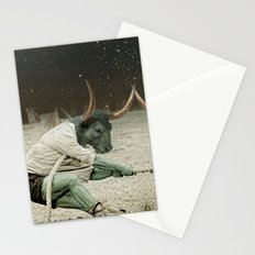 locking horns under Taurus Stationery Cards