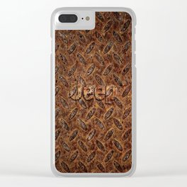 VINTAGE JEEP PATTERN LOGO INSPIRED Clear iPhone Case