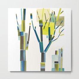 Cubist Trees Metal Print