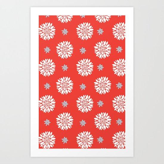 DAHLIA - RED Art Print