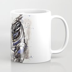 Garrus from Mass Effect sumie style with Japanese calligraphy Mug