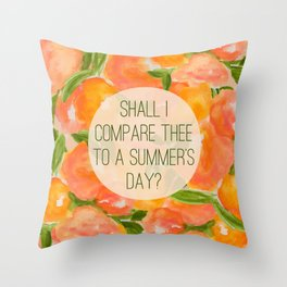 SHAKESPEARE- SONNET 18 Throw Pillow