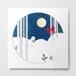 Snow Owl Metal Print