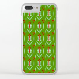 Lingonberry pattern - By Matilda Lorentsson Clear iPhone Case