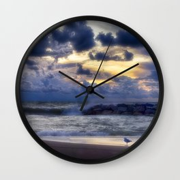 Stormy Sunset Wall Clock