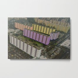 Colorful Block Buildings - Bekasmegyer - Budapest Metal Print