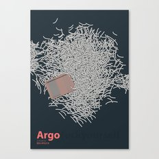 Argo - minmal poster Canvas Print