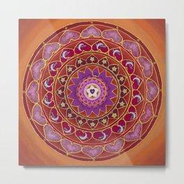 Joy Mandala Metal Print