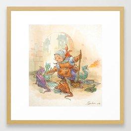 Mamie Dragon - Feeding Time Framed Art Print