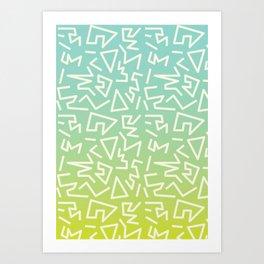 Aztec Ombre Print Art Print
