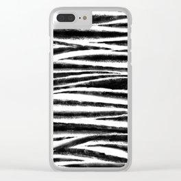 Zebra weave Clear iPhone Case