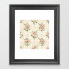 Rose vintage pattern  Framed Art Print