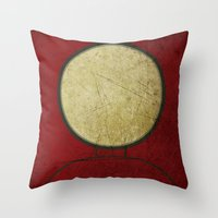 ironman Throw Pillows featuring Ironman by Fries Frame