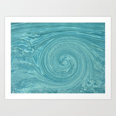 Swirls of time Art Print
