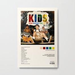 Mac Miller - KIDS - Mixtape Cover - Poster Print Wall Art, Custom Poster, Home Decor Unframed Metal Print