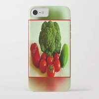 vegetables iPhone & iPod Cases featuring Fresh Vegetables by Art-Motiva