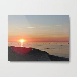 Kayak and the Sunset Metal Print
