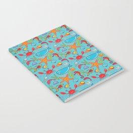 Cute Kids Ocean Sea Life Marine Pattern Notebook