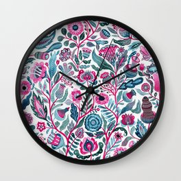 Endlessly growing - pink and turquoise Wall Clock