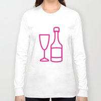 champagne Long Sleeve T-shirts featuring ICNSRS - Champagne by Sillustration