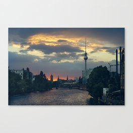 Berlin Red Canvas Print