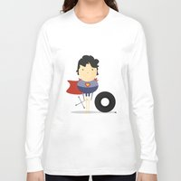 super hero Long Sleeve T-shirts featuring My Super hero! by Juliana Rojas | Puchu